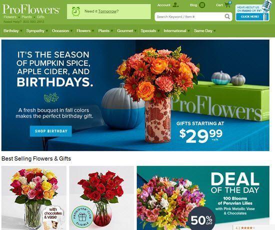 ProFlowers order flowers online